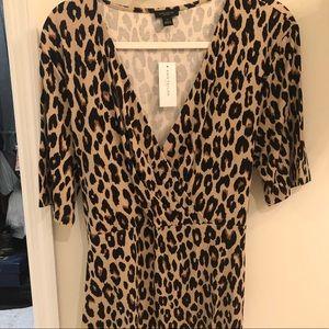 NWT Ann Taylor Leopard Print Blouse Size XL